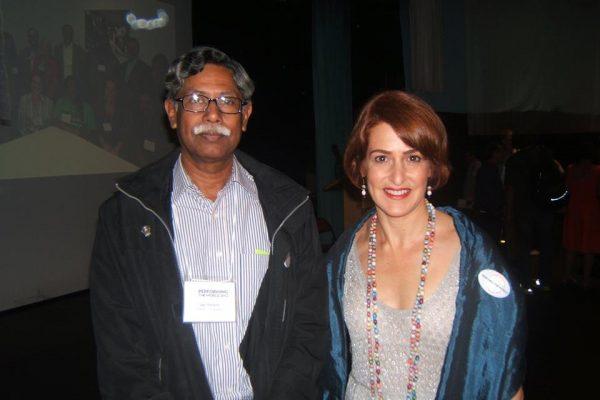 All Stars Project CEO, Gabrielle L. Kurlander with Qazi Abdur Rahman